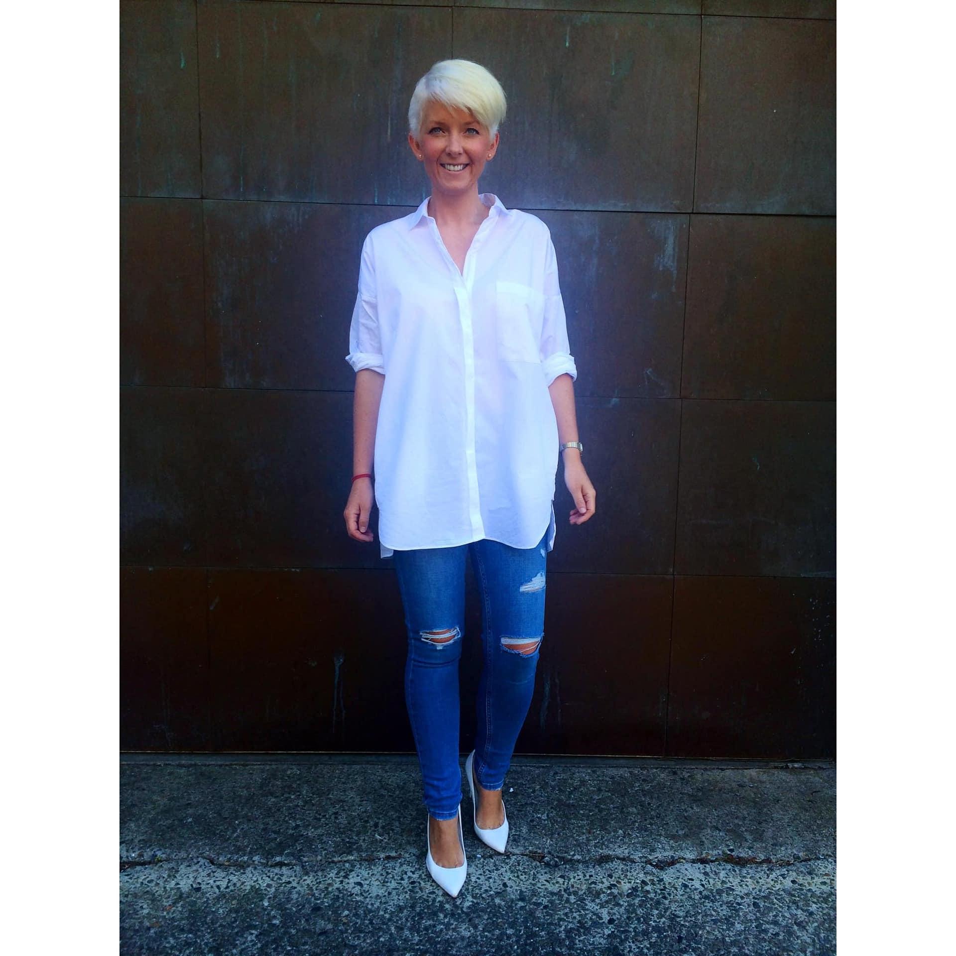 Zara oversized white shirt