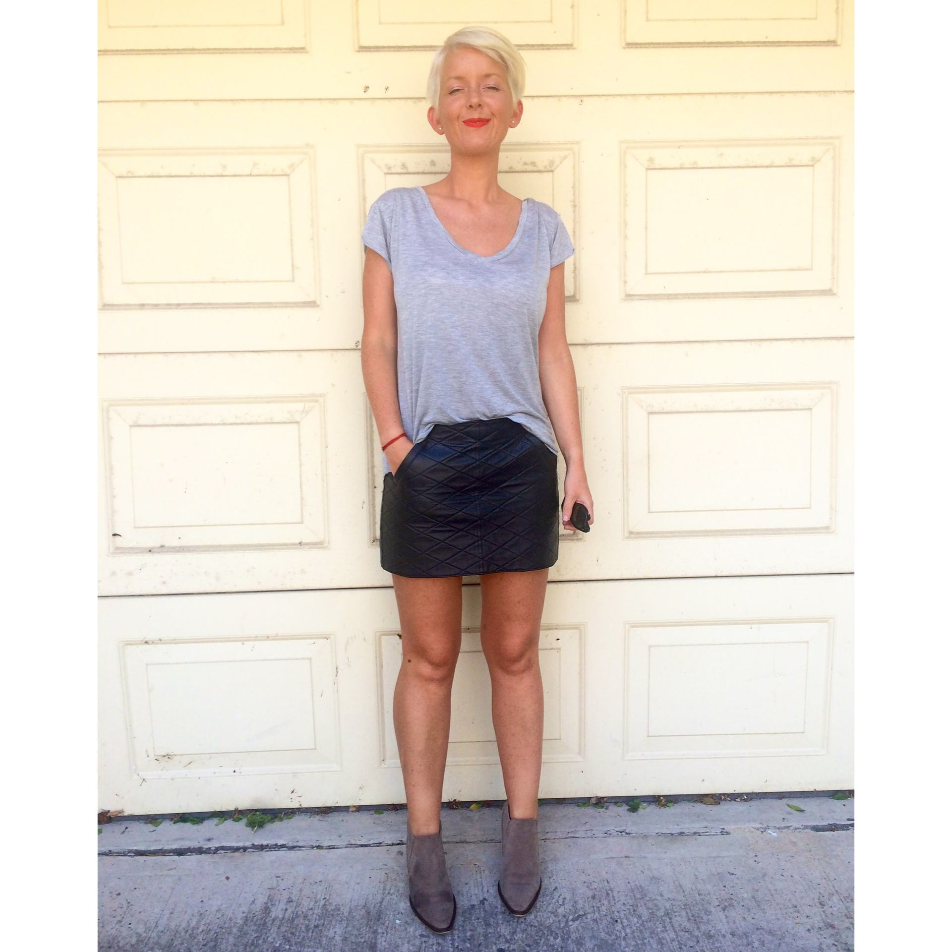 Kahlo leather skirt