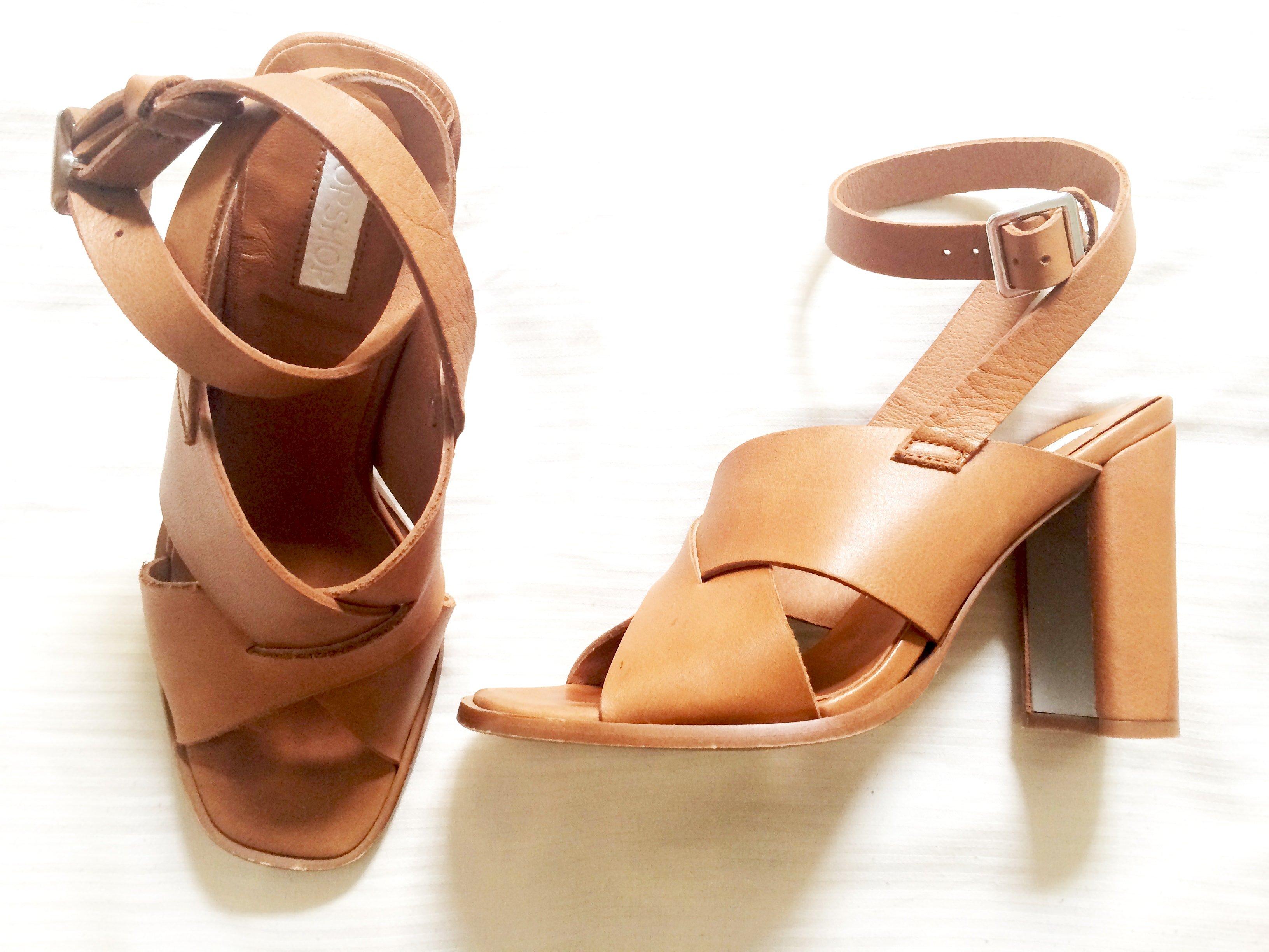 topshop tan sandals
