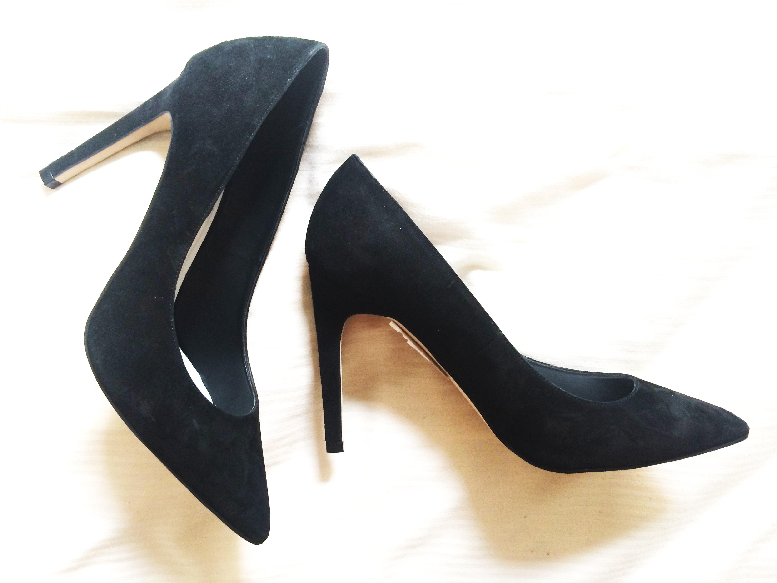 topshop black courts shoes