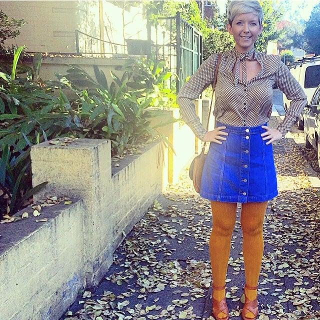 Button Down skirt topshop