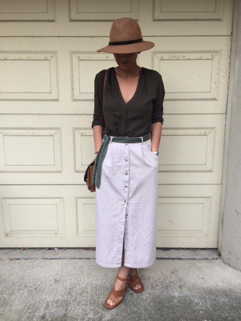 Button down skirt vintage