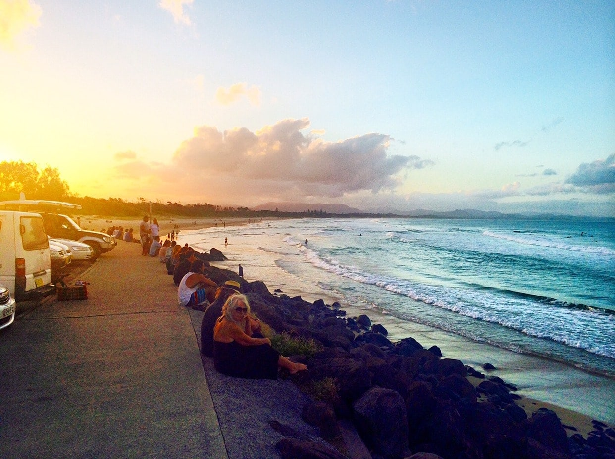 Byron Bay Sunset at Main Beach