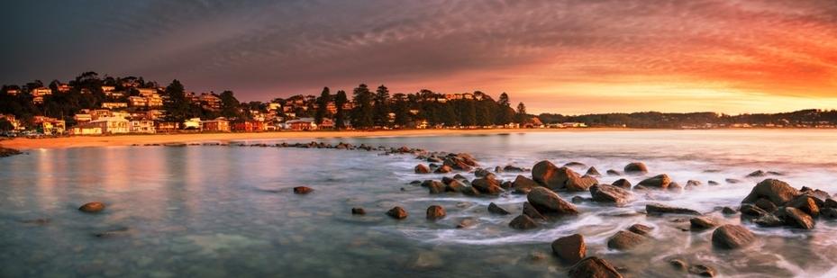 Avoca-Beach-sunset