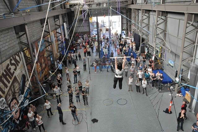 This image has an empty alt attribute; its file name is sydney-trapeze-school.jpg