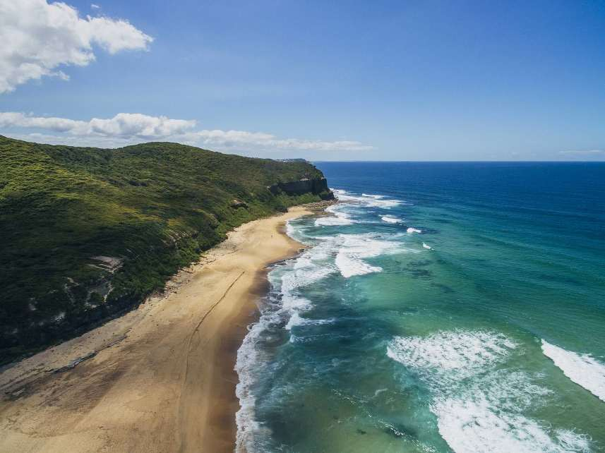 dudley-beach-australia-drone-shot