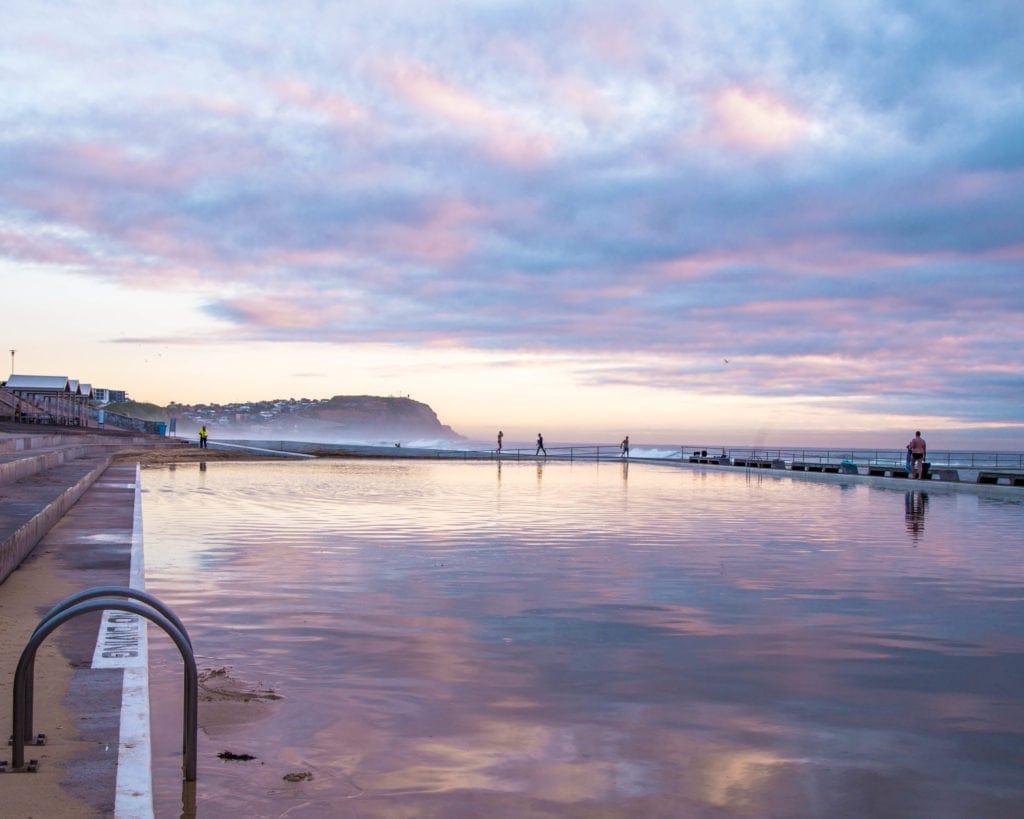 Newcastle-sunrise-mereweather-baths-newcastle-australia
