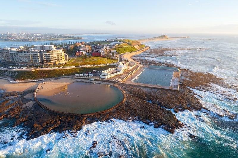 newcastle-baths-australia-drone-shot