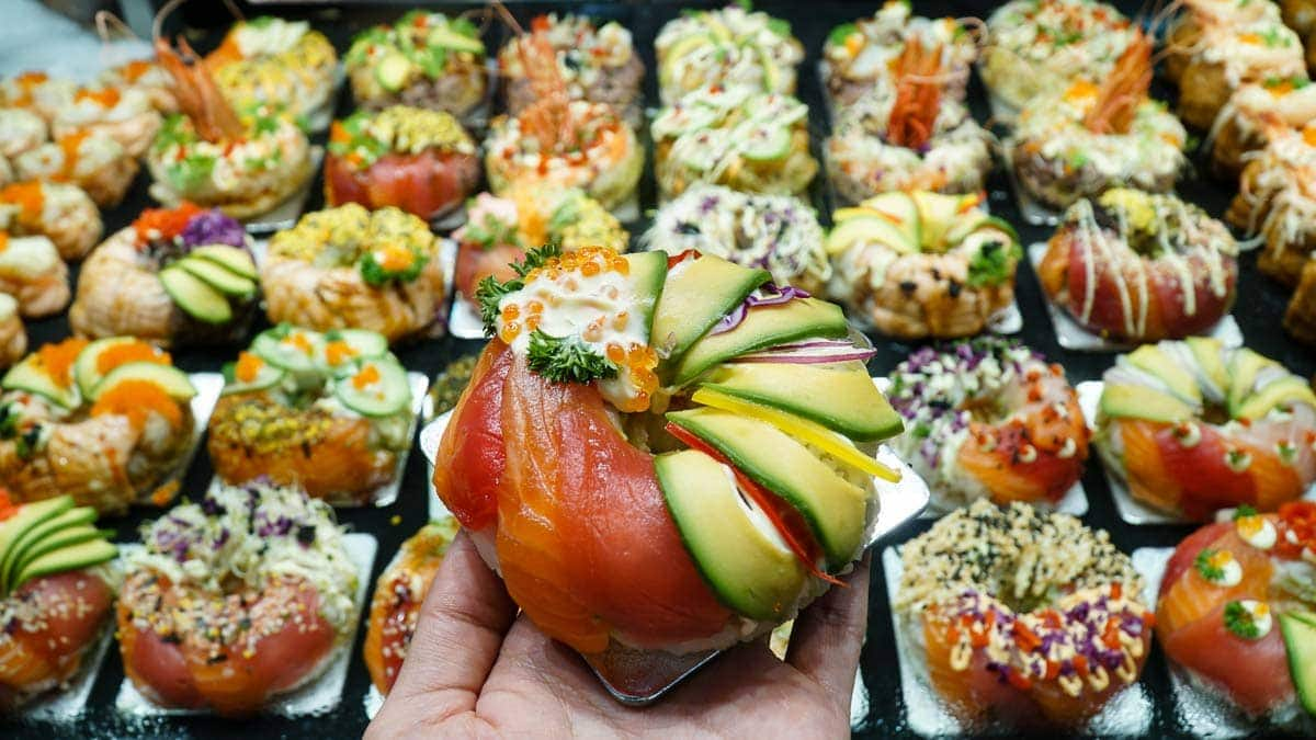 Sushi-Donut-at-Sydney-Fish-Market-Pyrmont-Sydney