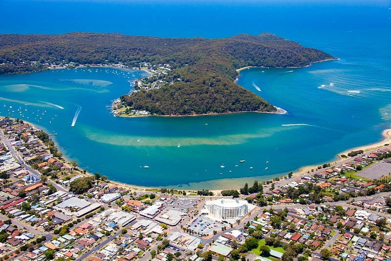 ettalong-beach-pittwater-drone-sydney