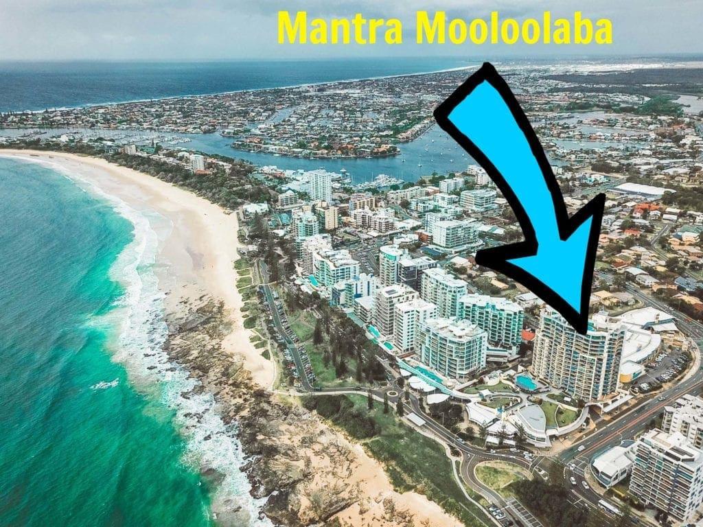 mantra-mooloolaba-accommodaton-drone-shot