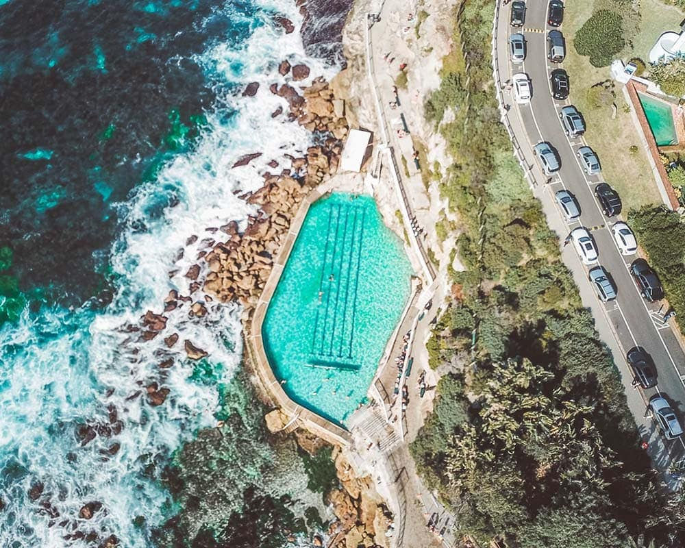 bronte-baths-drone-shot-permanent-residency-australia