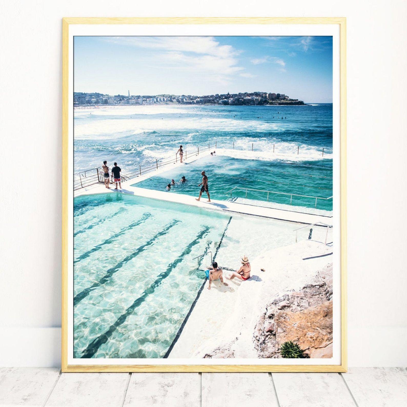 Beautiful Bondi Icebergs Print