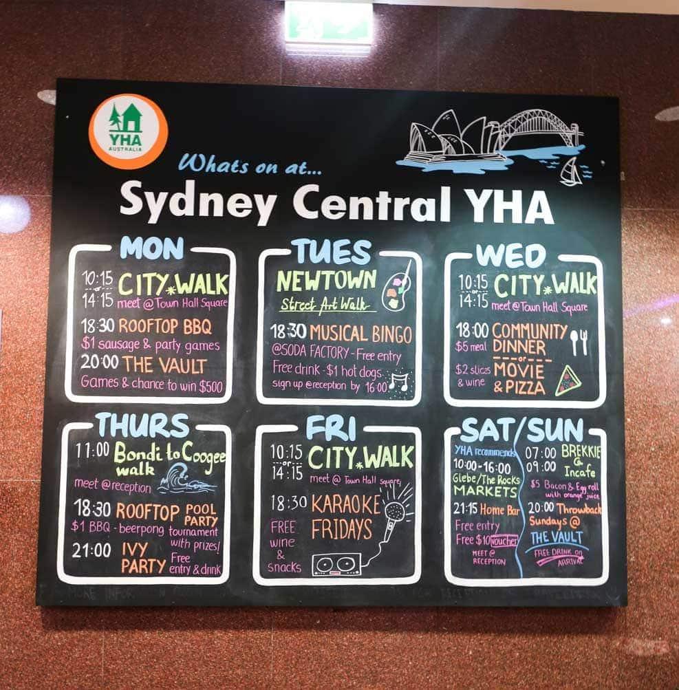 sydney-central-yha-activities