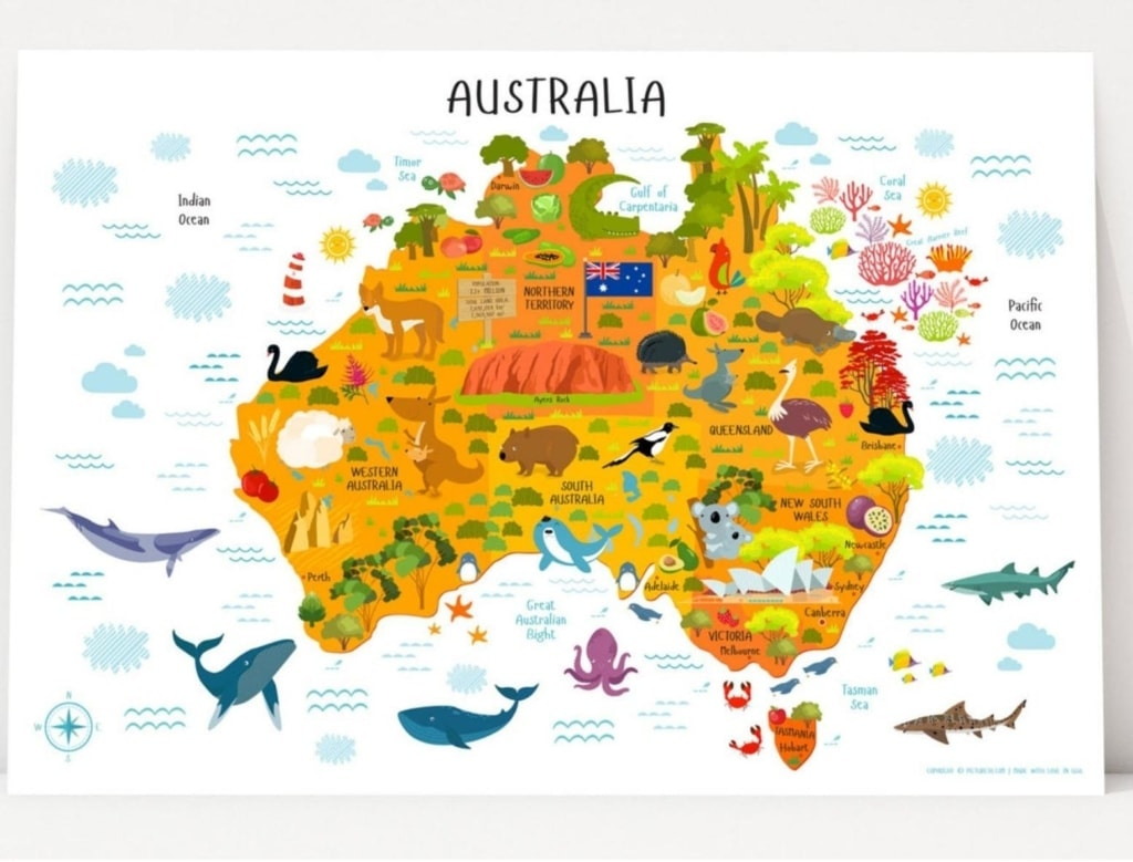 map-of-australia-for-children